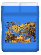 Looking Up To Yellow Leaves Duvet Cover