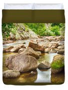 Looking Upstream The Colorado St Vrain River Duvet Cover