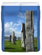 Looking West At Callanish Duvet Cover