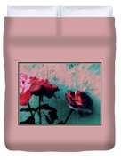 Looks Like Painted Roses Abstract Duvet Cover
