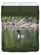 Loon And Baby Duvet Cover