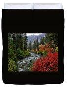 Loon Creek In Fall Colors Duvet Cover