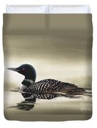 Loon In Still Waters Duvet Cover