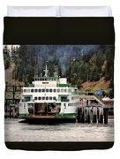 Lopez Island Ferry Duvet Cover