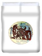 Lord Of The Dance Duvet Cover by Gloria Ssali