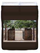 Lord's Prayer Hail Mary Gates 5184 Duvet Cover
