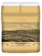 Los Angeles 1877 Duvet Cover