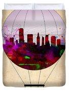 Miami Air Balloon 1 Duvet Cover