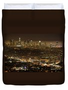 Los Angeles At Night Duvet Cover