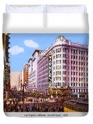 Los Angeles California - Seventh Street - 1938 Duvet Cover