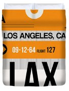 Los Angeles Luggage Poster 2 Duvet Cover
