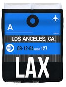 Los Angeles Luggage Poster 3 Duvet Cover