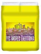 Los Angeles Postcard Duvet Cover