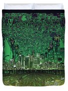 Los Angeles Skyline Abstract 6 Duvet Cover
