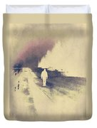 Lost Hitch Hiker Duvet Cover