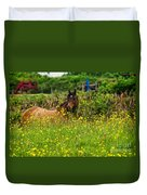 Lost In Buttercups Duvet Cover