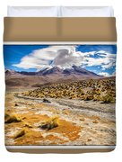 Lost In The Bolivian Desert Framed Duvet Cover