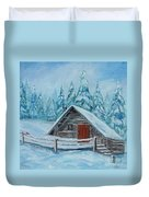 Lost Mountain Cabin Duvet Cover