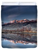 Lost River Mountains Winter Reflection Duvet Cover