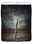 Lost Sword Duvet Cover by Carlos Caetano