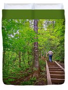 Lots Of Steps On La Chute Trail In Forillon Np-qc Duvet Cover