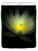 Lotus And Bee Duvet Cover