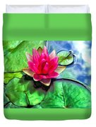 Lotus Blossom And Cloud Reflection Duvet Cover