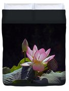 Lotus Enchantment Duvet Cover