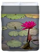 Lotus Flower Duvet Cover