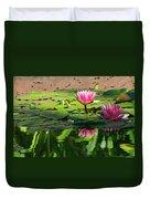 Lotus Flower Reflections Duvet Cover