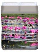 Lotus Flowers Duvet Cover