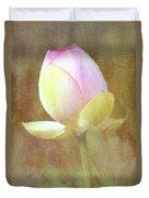 Lotus Looking To Bloom Duvet Cover
