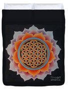 Lotus Of Life Duvet Cover