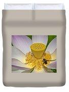 Lotus Pollinator Duvet Cover