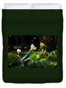 Lotuses In The Evening Light Duvet Cover