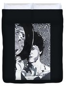 Lou Reed In Pools Duvet Cover