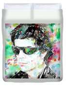 Lou Reed Watercolor Portrait.2 Duvet Cover