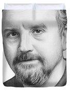 Louis Ck Portrait Duvet Cover by Olga Shvartsur