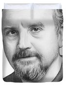 Louis Ck Portrait Duvet Cover by Olga Shvartsur