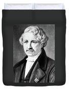 Louis Daguerre (1789-1751) Duvet Cover