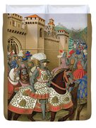 Louis Xii Leaving Alexandria Duvet Cover