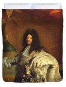 Louis Xiv In Royal Costume, 1701 Oil On Canvas Detail Of 59867 Duvet Cover