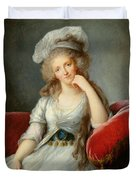 Louise-marie Adelaide, Duchesse Dorleans Oil On Canvas See Also 91622 Duvet Cover