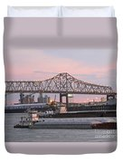 Louisiana Baton Rouge River Commerce Duvet Cover