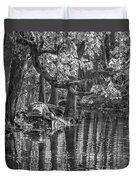 Louisiana Bayou - Bw Duvet Cover