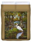 Louisiana Heron Duvet Cover