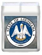 Louisiana State Seal Duvet Cover