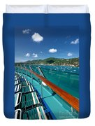 Lounge Chairs On Cruise Ship Duvet Cover
