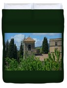 Lourmarin Castle In Provence Duvet Cover