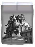 Louvre Man On Horse Duvet Cover